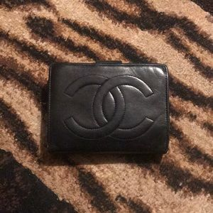 Chanel lambskin leather wallet